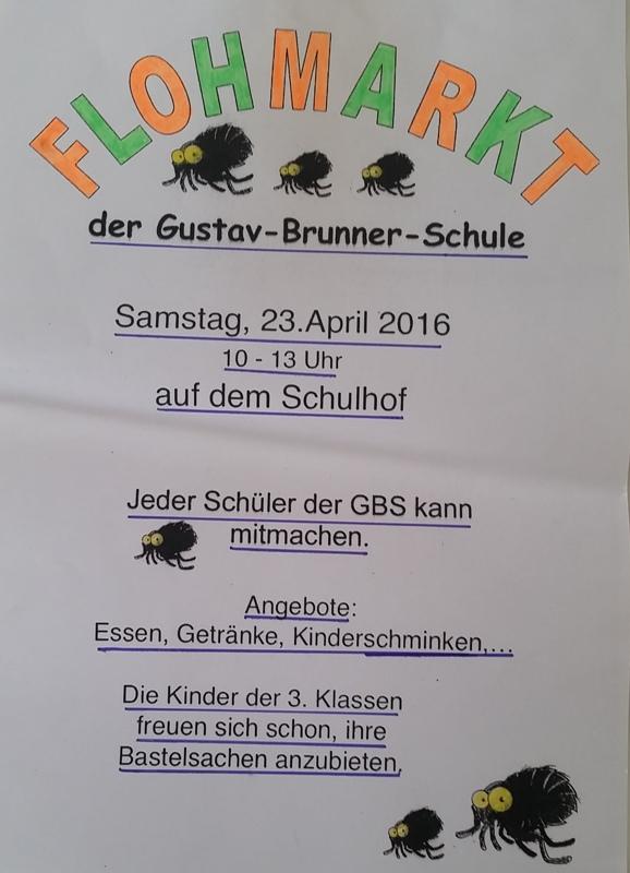 Plakat Flohmarkt 2016